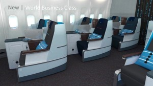 side view new klm business class full flat seats