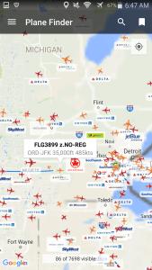 AVgeek watching myself fly to JFK from ORD RenesPoints Million Miler run to japan