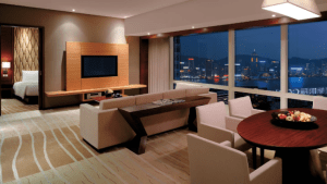 Executive Suite Hyatt Regency Hong Kong Living Room