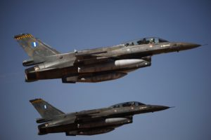 Greek F-16 Fighter Jets to Intercept Delta Flight Over Santorini Greek Island Mediterranean