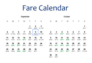 SFO-DUB Sep Oct DL FCal