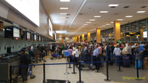 TSA Long Lines Checked Baggage Airport