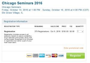 chicago seminars 2016 tickets on sale