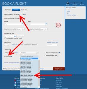 delta fare class order on delta-com