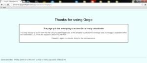 gogo to japan error page on satilite wifi not working