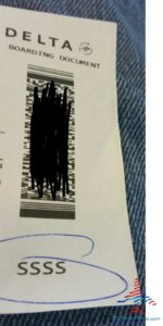 i got the SSSS on my boarding pass - yikes RenesPoints blog