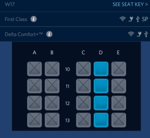 only middel seats open on my yyz to atl flight delta 717-200 jet