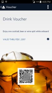 screen shot of a delta drink voucher from app renespoints blog