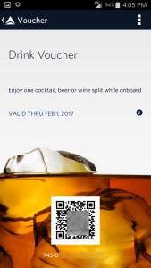 screen shot of a delta drink voucher from app renespoints blog