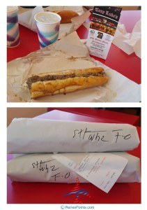 tony lukes phl cheese steak sandwich with whiz and fried onions renespoints blog
