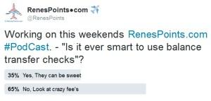 twitter poll on balance transfer checks