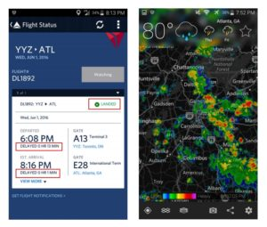 delta yyz to atl fliht departed 13 min late landed only 1 min late