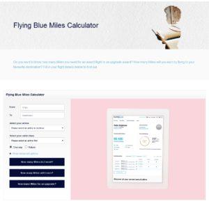 fb miles upgrade calculator page