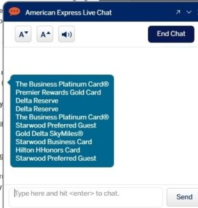 my-list-of-cards amex says I have ever had