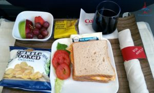 Delta Air Lines 1st class turkey sandwich review RenesPoints blog