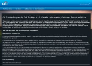 citi golf wording