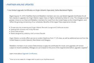current wording for Virgin GU flights