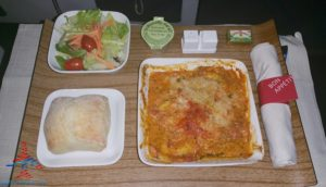 delta air lines first class food 3 cheese pasta renespoints blog review
