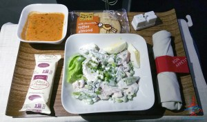 delta first class turkey salad lunch dinner cold renespoints blog review