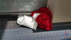 left over delta pillow and blanket left behind in msp renespoints blog