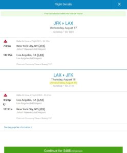 priceline pop up about seats and price