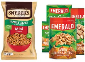 snyders and emerald snacks