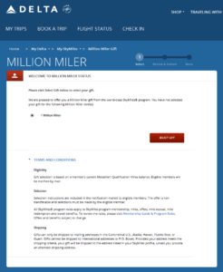 Delta million miler gift choices from Delta - com RenesPoints blog choice (1)