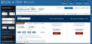 price to buy biz to sweden summer 2017