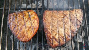 Grilled Tuna steaks on RenesPoints blog