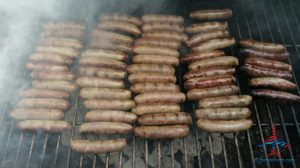 breakfast sausage on the grill renespoints blog