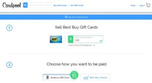 sell best buy gift card on cardpool renespoints 1