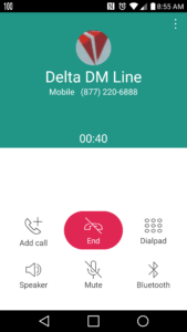 how to get Delta reps not to push cars and hotels