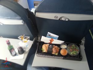 klm regonal business class seat and lunch renespoints blog