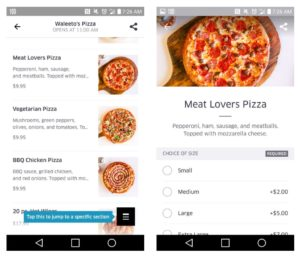 order a pizza from UBEReats app RenesPoints travel blog