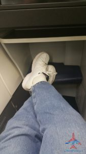 tight foot space delta one 757