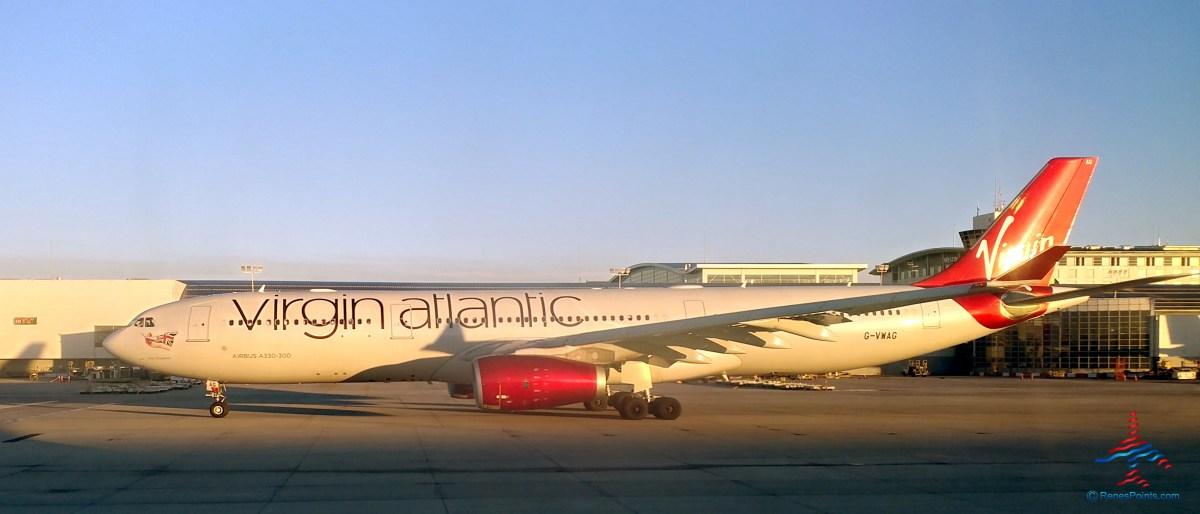 Virgin Atlantic jet Detroit photo DTW RenesPoints Blog