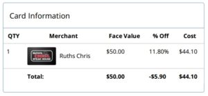 discount gift card for ruths chris steak house renespoints blog