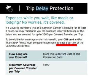 only 3 hours and a portion of ticket paid with citi prestige card for perk