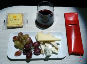 Delta One cheese after dinner RenesPoints blog