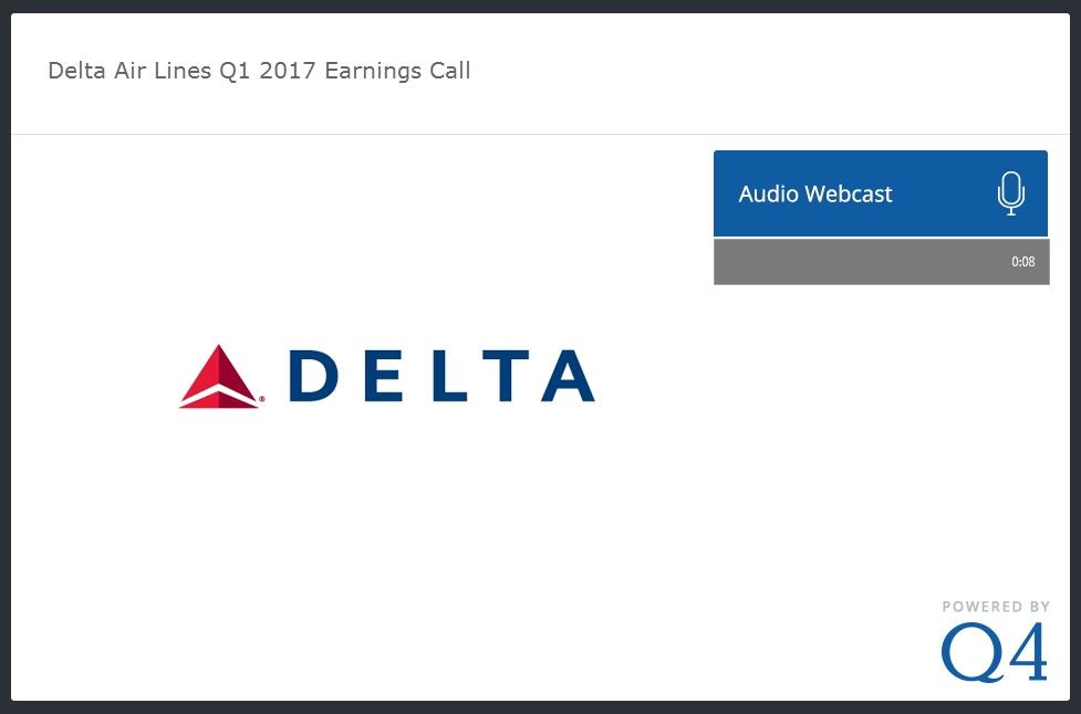 Q1-17 delta earnings call