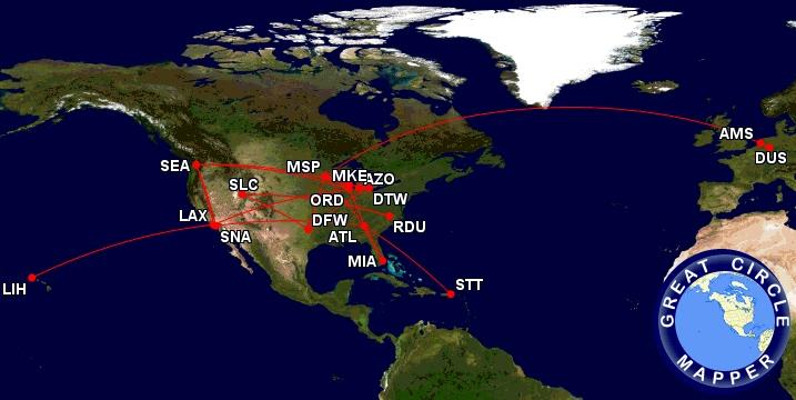 my 2018 booked flights on Delta