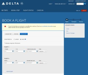 simple 2 leg serach errors out on Delta-com