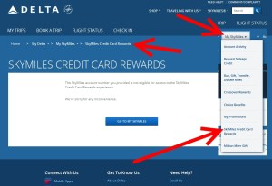 skymiles credit card rewards on delta-com