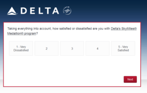 New Delta Air Lines SkyMiles survey for 250 SkyMiles - how would you vote (5)