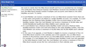 update from Delta reg amex card rule statement updates