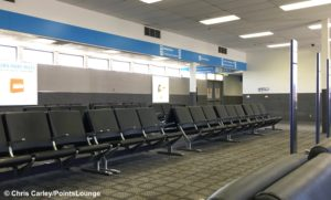 Southwest Airlines boarding area at Hollywood Burbank Airport in California.