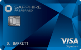 The Chase Sapphire Preferred travel rewards credit card.