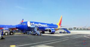 Passengers board a Southwest 737 at Hollywood Burbank Bob Hope Airport (BUR) in Burbank, California.