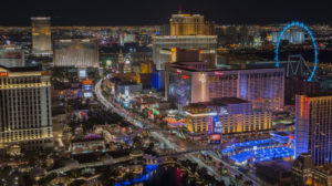 Select Las Vegas Fine Hotels and Resorts and Chase Luxury Hotels and Resorts are seen on the Las Vegas Strip. (Photo credit: ©iStock.com/d25higgins)
