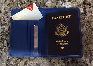 Delta Diamond Medallion membership card with passport.